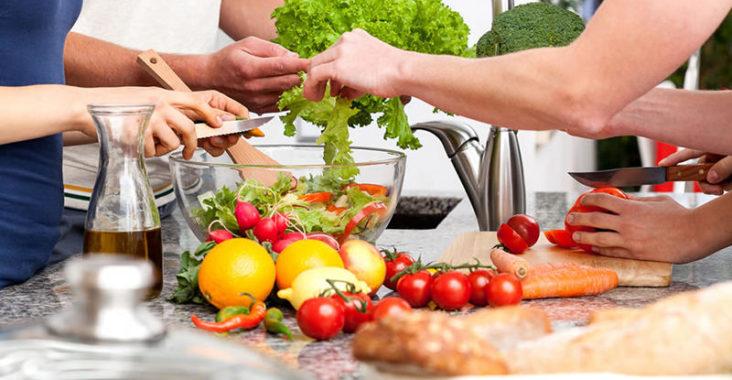 Utensili da cucina per un vegetariano